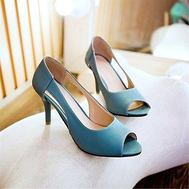 LvYuan Extérieure Habillé Décontracté-Bleu Jaune Rose-Talon Aiguille-Confort Nouveauté-Sandales-Matières Personnalisées Similicuir Blue