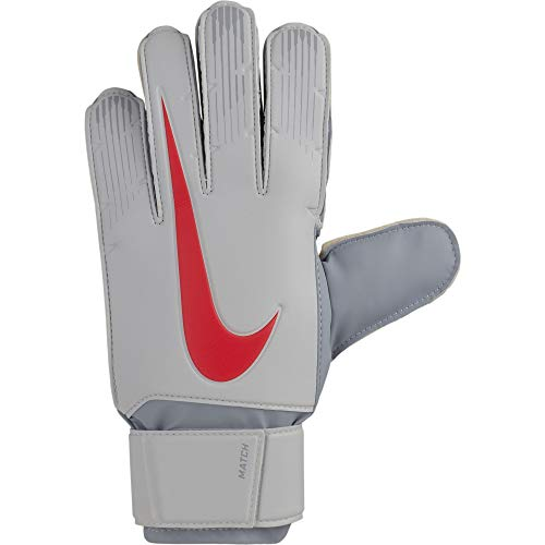 Nike Match - Guantes de Portero, otoño/Invierno, Unisex Adulto, Color Pure Platinum/Wolf Grey/(Light Crimson), tamaño 9 (11.6-12.1 cm)