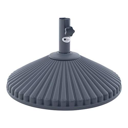 Sonnenschirm Ständer Garten Basis Stand | Hochwürdiger Kunststoff | Eco | Ø60 cm | Runde | SORARA...