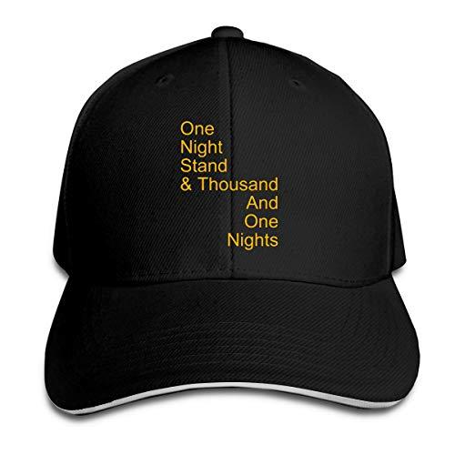 XCOZU Baseball Cap-One Night Stand Kappe Für Herren Und Damen,Verstellbar Sport Freizeit Schirmmütze Caps -