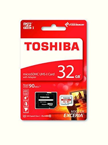 Galleria fotografica Toshiba Scheda di Memoria microSDHC 32GB - Exceria - 90MB/s - Classe 10 - UHS-I - U3 + Adattatore