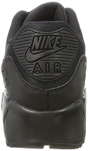 Nike Air Max 90 Mesh GS 833418-100 Kinder, Weiß Schwarz (001 BLACK/BLACK)