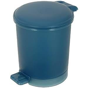 promobo poubelle de salle de bain corbeille de toilettes wc bleu 850ml cuisine maison. Black Bedroom Furniture Sets. Home Design Ideas