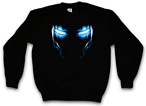MARK II ARMOR EYES PULLOVER SWEATER SWEATSHIRT MAGLIONE - Tony Yeux Stark Iron Arc Reactor Sign III 3 Man PULLOVER SWEATER SWEATSHIRT MAGLIONE Taglie S - 5XL