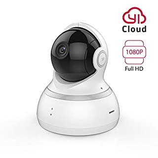 YI Dome Camera 1080p Full HD, Wireless Security Camera IP Cloud Camera Surveillance System with Motion Detection, Baby Crying Detection and Night Vision(UK Edition) (1080P/White)