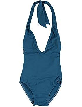 Noronqui Picos 110 - Bañador cuello hálter color Cobalto para chicas
