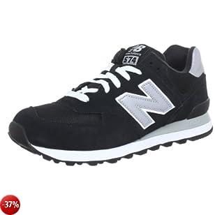 new balance 574 uomo nero