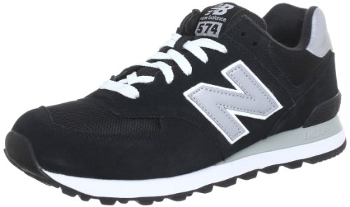 New Balance M_w574, Sneaker, Nero (Black/Grey), 44