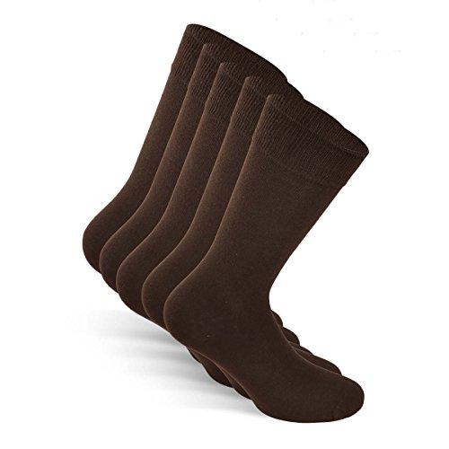 Snocks Socken Herren Braun 43-46 Herrensocken Größe 43 Gr 44 Gr. 45 46 Braune Herren Socken Business Socken Dünne Männer Socken Baumwolle Baumwollsocken Lange Strümpfe Herren Casual Anzug