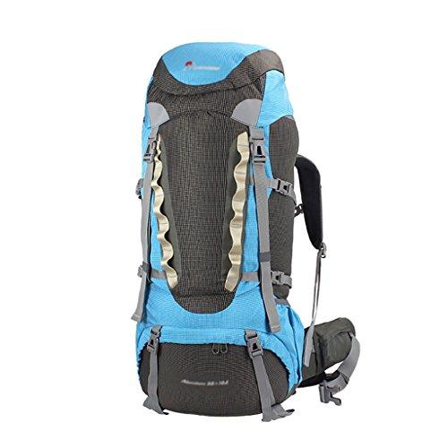 HWLXBB Outdoor Bergsteigen Tasche Männer und Frauen 55L + 10L Wasserdichte Mehrzweck-Bergsteigen Tasche Wandern Camping Bergsteigen Freizeit Rucksack Rucksack B