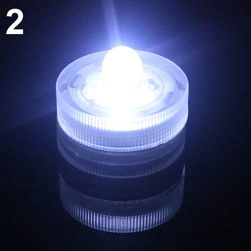 AchidistviQ - 12 Velas sumergibles Impermeables para Boda o té con Pilas, Luces LED Impermeables, lámpara de Vela, lámpara de Acuario, luz de Acuario, luz de Fiesta, Barra de Boda, Impermeable.
