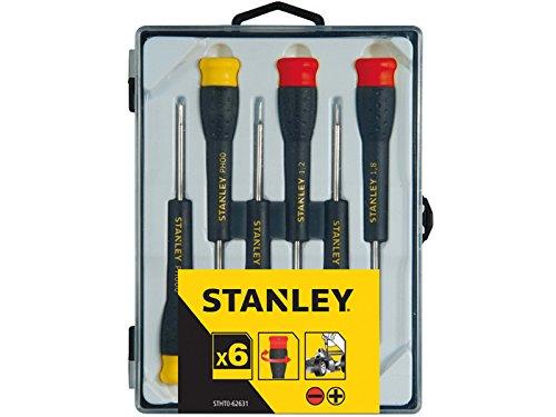Stanley STHT0–62631–Spiel 6Schraubendreher Feste Flache. 1, 1.2, 1.5und 1.8. Phillips: PH000/PH00