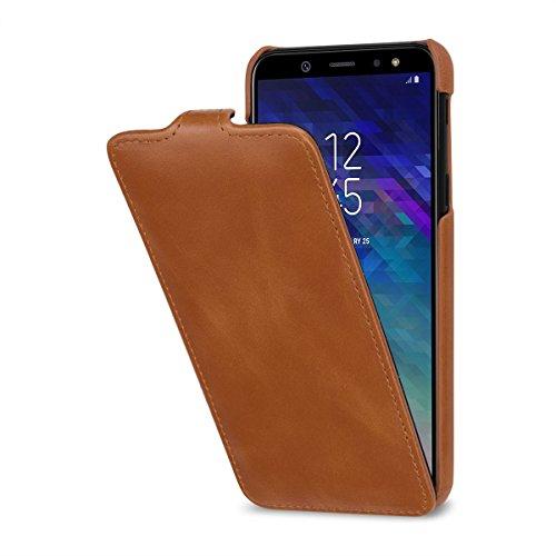 StilGut UltraSlim Lederhülle für Samsung Galaxy A6 2018. Dünnes Flip-Case Vertikal klappbar aus...