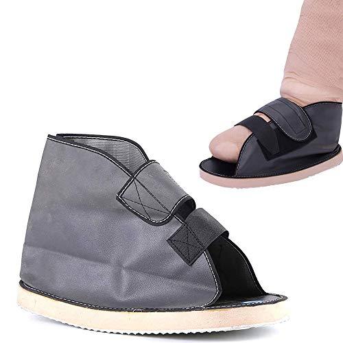GHzzY Zapato postoperatorio para Fractura de pie/pie Roto - Botas de Andar médicas y Sandalia ortopédica con/Correas Ajustables para la protección y recuperación del pie,L