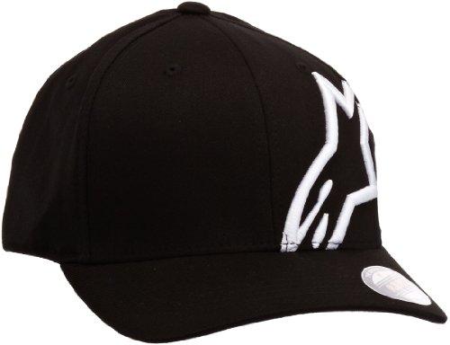 Imagen de alpinestar corp shift 2 flexfit  flexfit visera curva logo bordado 3d, hombre, black/white, s/m alternativa