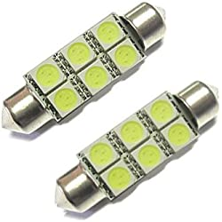 XtremeAuto® 12V Light Bulbs 39MM - 239 - 272 Number Plate Interior Light 6 SMD White x 2