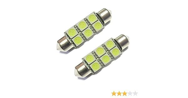 FITS FORD MONDEO MK3 2.2 TDCI 6-SMD Blanc DEL 39 mm Feston Plaque Ampoules