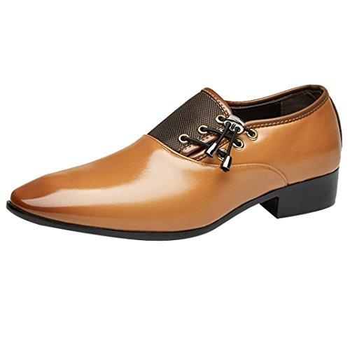 Uomogo scarpa uomo in pelle, uomo elegante mocassini scarpe casuale piatto scivolare loafers scarpe