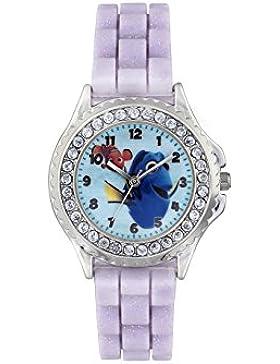 Finden Dory Kinder Quarz-Uhr mit Zifferblatt Analog-Anzeige- und lila Rubber Strap fdo3035