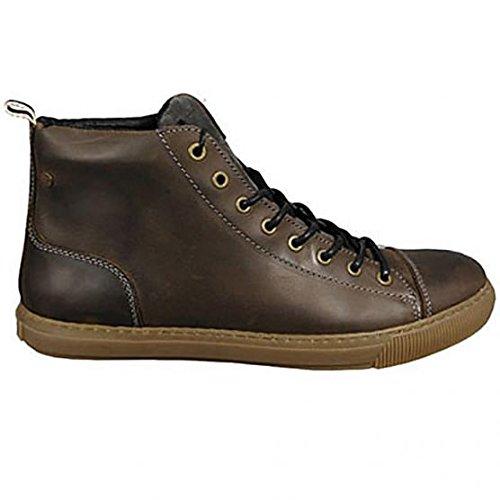JACK JONES - Scarpe da uomo duran leather high sneaker 42 marrone
