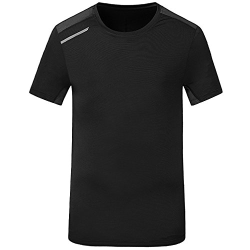 Men's Short Sleeve T-Shirt Quick Dry Sports Shirts Breathable Crew Neck Tops