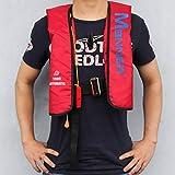 UnitedHeart Pullover-Schwimmweste-Handbuch und Automatische aufblasbare Wasser-Sport-Erwachsen-Sportler-Lebensrettung für Das Bootfahren, Das ablandig Surft