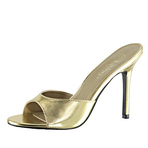 Heels-Perfect , Hi-Top Slippers femme Doré