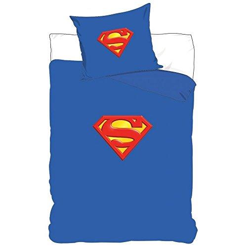 Superman Kinderbettwäsche / Bettwäsche 140x200 + 70x90 2 tlg.