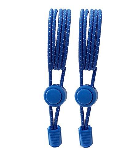 Elastische Schnürsenkel, Schnellschnürsystem für Sportschuhe, Schnürsenkel ohne schnüren(Royal Blue)