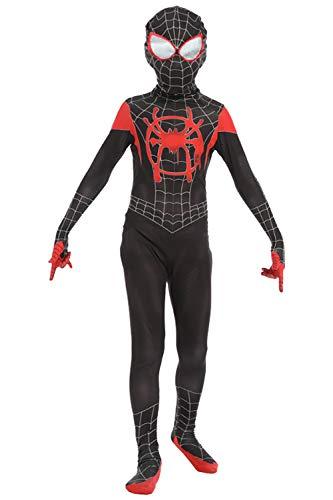 Kinderkostüm Superheldenkostüm Kinder Kostüm für Party Halloween Fasching Karneval Cosplay - Miles Morales Kostüm Kinder