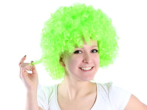 Alsino Die Mega Funky Party XXL Afro Clown Fasching Karneval Perücken Auswahl (grün)