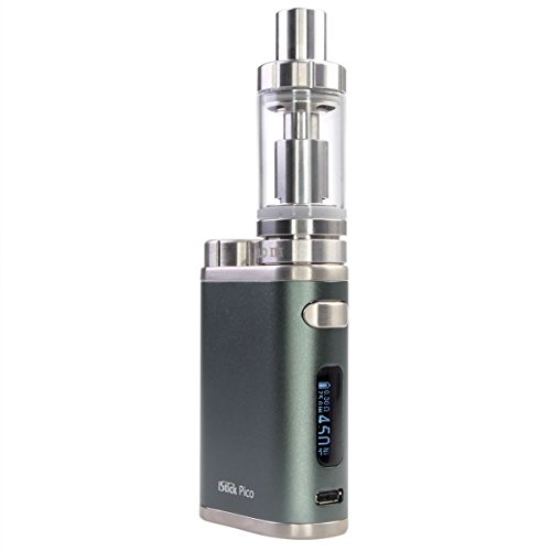 Eleaf iStick Pico 75 Watt Kit mit Melo 3 Clearomizer 4 ml, Riccardo e-Zigarette, grau