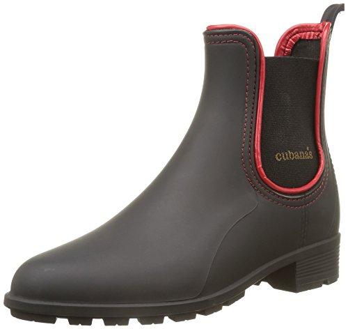 Cubanas Damen Rainy620 Stiefel - BLACK+DEEP RED