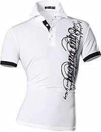Jeansian Hommes Fashion T-shirts Manches Courtes Pour Men Casual Polo T-shirts D403