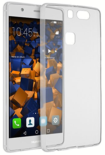 mumbi UltraSlim Hülle für Huawei P9 Plus Schutzhülle transparent (Ultra Slim - 0.55 mm)