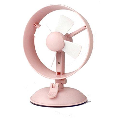 SANVA USB Ventilator in Windmühle Design, mit starke Saugnapf für Auto, Schreibtisch im Büro, Zuhause, Weiche Rotor-Blätter aus Schaum ohne verletzung zum Finger (Rosa)