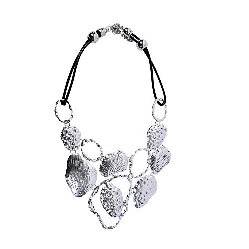 STRIPES presents EID Special silver metal Necklace for Women/Handcrafted jewellery/Designer Jewell...