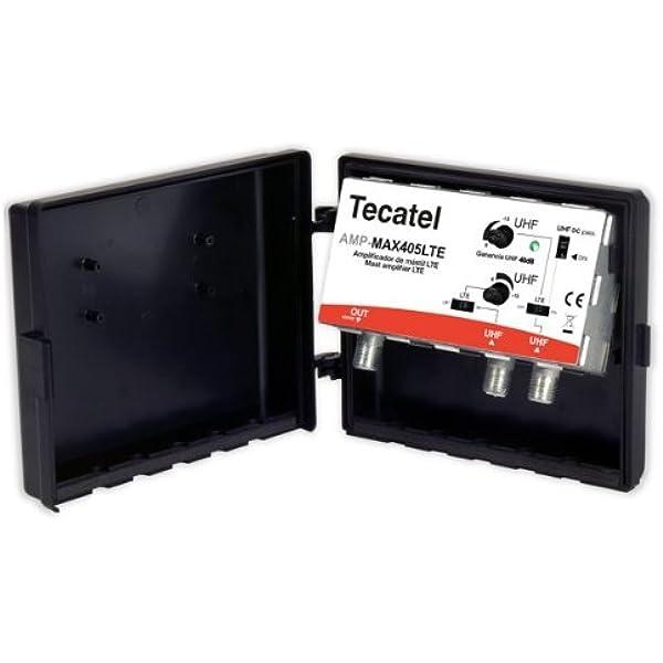 Amplificador de mástil Tecatel Máx 40dB, UHF/UHF LTE ...