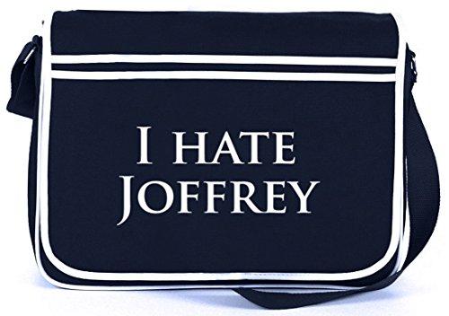 Shirtstreet24, Odio Joffrey, Borsa A Tracolla Retro Messenger Navy