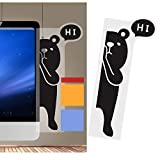 Monitor Memo Board Computer - Monitor Sticky Note Holder - Message Memo Pad Holder- Transparent Message Creative Animal Bear Multifunction Paper Sticky Notes Boards for Cabinets Shelves Right