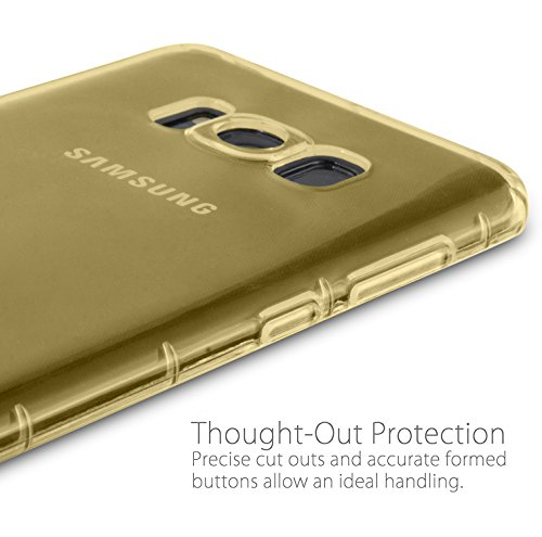 MyGadget Hülle für Samsung Galaxy S8 (2017) - TPU Crystal Case klar Schutzhülle - Backcover slim Handyhülle Silikon Cover dünne Silikonhülle - Transparent Crystal Case Gelb