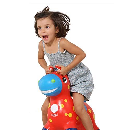 Baobe Sprungpferd, Hüpftier Hüpfpferd Pumpe enthalten, Hüpfpferd Rody, Aufblasbare Pferd Bouncer, Hopper für Kinder Eco-Friendly Rubber (rot)