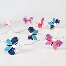 batteriebetriebene Lichterkette im Schmetterling-Design, 10 LEDs in warmweiß, von Festive Lights
