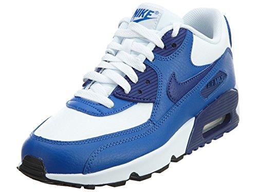 Nike Nike Air Max 90 Leather (Gs) Shoe, Sneakers basses mixte enfant blau