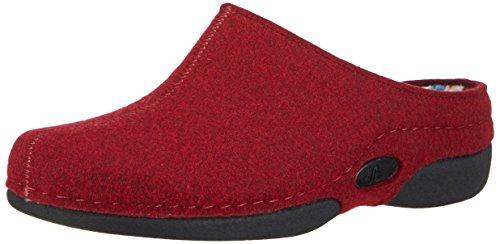 BerkemannLorena - Pantofole non imbottite donna Rosso (Rot (dunkelrot 258))