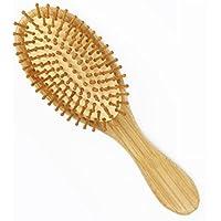ULTNICE Capelli Spazzola pneumatica Pettine capelli Spazzola piatta antistatica di bambù naturale
