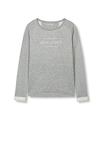 Esprit Sports 017ei1j002-Sweatshirt, Sweat-Shirt Femme Gris (Medium Grey 2)