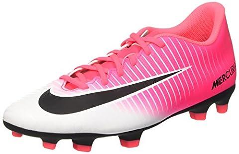 Nike Men's Mercurial Vortex Iii Fg for Soccer Training Shoes, Pink (Racer Pink/Black/White), 6 UK