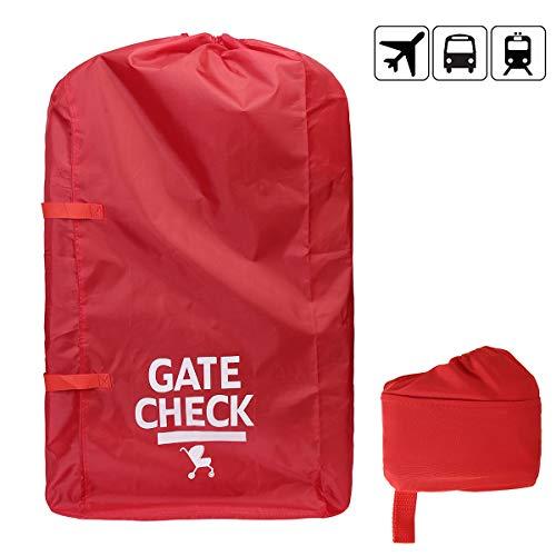Gate Check #81559 Borsa da viaggio con manico fettuccia per passeggini standard e doppi carrozzina seggiolino auto passeggini colore rosso