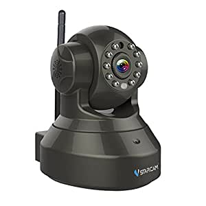 Vstarcam H.264 1280 x 720p Home Surveillance Camera Wireless IP Camera Built in Microphone with One Key WI-FI Configuration APP, Motion Detection, Remote Viewing Function, 3dBi WIFI Antenna,Black